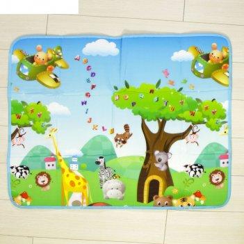 Коврик детский на фольгированной основе «жирафик», размер 119х89 см