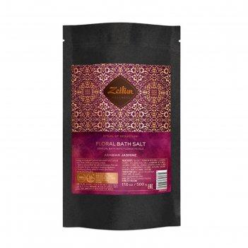 Цветочная соль для ванн zeitun «ритуал соблазна» с лепестками белого жасми