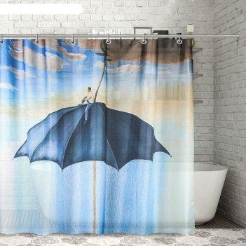 Штора для ванной 180х180 см зонт, полиэстер
