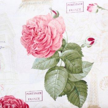 Ткань париж в розах