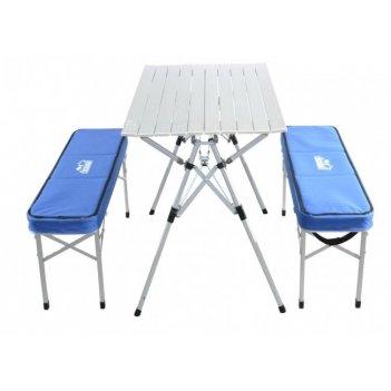 Набор-кейс кемпинговой мебели следопыт стол + 2 скамейки