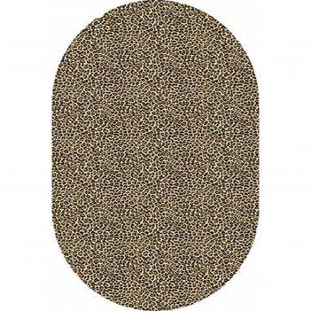 Ковёр хит-сет пп valencia d112, 1*3 м, овал, beige