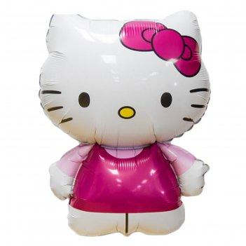 Шар фольгированный 26 hello kitty, розовое платье