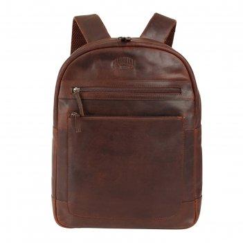 Рюкзак klondike digger sade, натуральная кожа в тёмно-коричневом цвете, 34