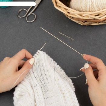 Спицы для вязания, круговые, d = 2,75 мм, 14/80 см, с иглой