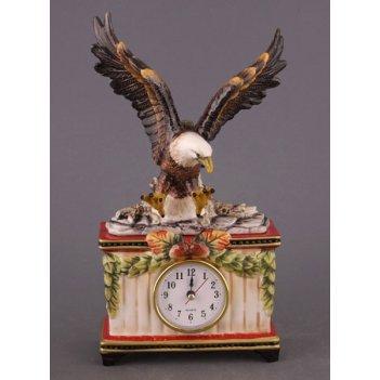 Часы настольные орел 15*7 см. высота=28 см. диаметр циферблата=6,5 см. (ко