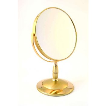 Зеркало b7 808 g5/g gold наст. кругл. 2-стор. 5-кр.ув.18 см