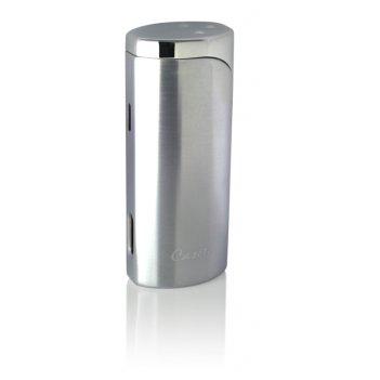 Зажигалка caseti для сигар, газовая турбо, хромированная 7,2x2