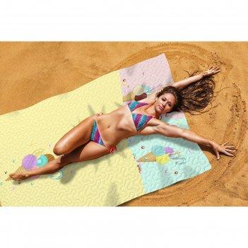 Пляжное покрывало «сладкий отдых», размер 145 x 200 см