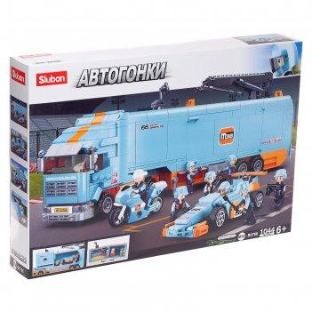 Конструктор автогонки грузовик сто, 1044 детали