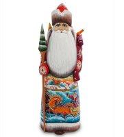 Фигурка дед мороз с подарками (резной) 31см.