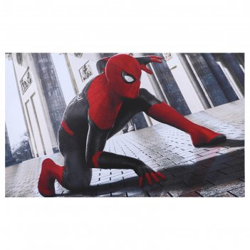 Постер человек-паук в городе 100х60 см