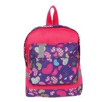 Рюкзак малый, 1 отделение, наружный карман, розовый/сиреневый, сердца