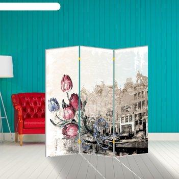 Ширма тюльпаны. декор 1 150 x 160 см