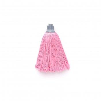 Насадка для швабры с резьбой, верёвочная микрофибра розовый 150 г