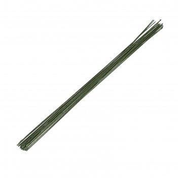 Флористическая проволока зеленая (набор 20 шт) 1,2 мм, 36 см