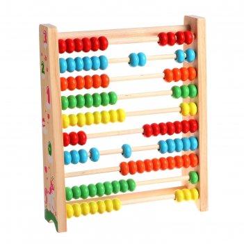 Детские обучающие счёты 21х25х6 см