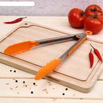 Щипцы для барбекю 28 см цветной день, цвета микс