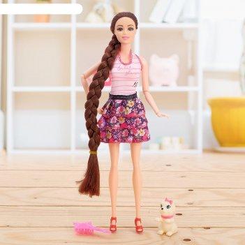 Кукла модель даша в платье, микс