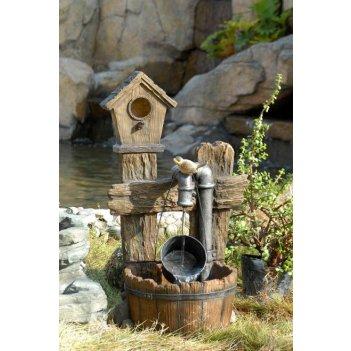 Садовый фонтан  скворечник