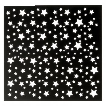 Трафарет для творчества звезды, 15х15 см