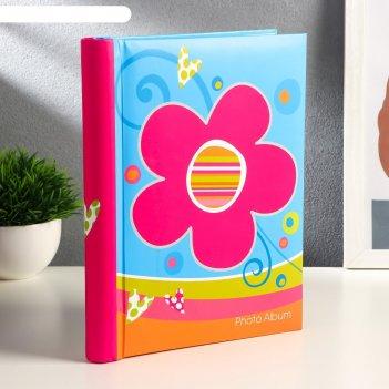 Фотоальбом магнитный на 20 листов яркие цветы микс 25х20х2,5 см