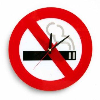 Часы не курить cl189 32х32см