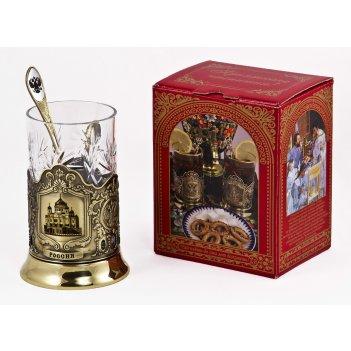 Набор для чая россия (3 пр.) арт. пд-77к (ххс)-л