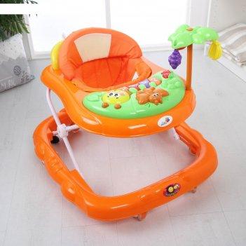 Ходунки пальма, 7 силиконовых колес, муз., игрушки (упак.5 шт.)(alis), -ор