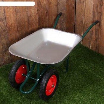 Тачка садово-строительная, двухколёсная: груз/п 200 кг, объём 65 л, пневмо