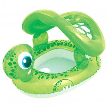 Круг для плавания с сиденьем и тентом черепаха, 74 х 66 см