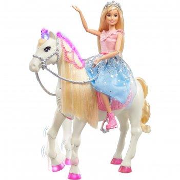 Кукла барби - современная принцесса пренс и мерцающая лошадь