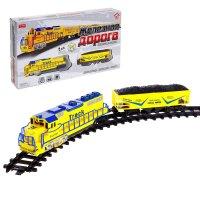 Железная дорога товарный поезд, работает от батареек, русский звуковой чип