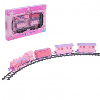 Железная дорога поезд принцессы, световые и звуковые эффекты, работает от