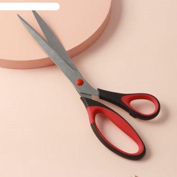 Ножницы универсальные, скошенное лезвие, 28 см, цвет микс