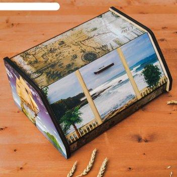 Хлебница «голубая бухта», 38x27x17 см