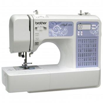 Швейная машина brother style 60e, 60 операций, обметочная, потайная, эласт