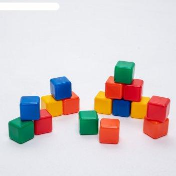 Набор цветных кубиков, 16 штук, 4 x 4 см
