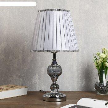 Лампа настольная алора 1хе27 40вт хром 26х26х45 см.