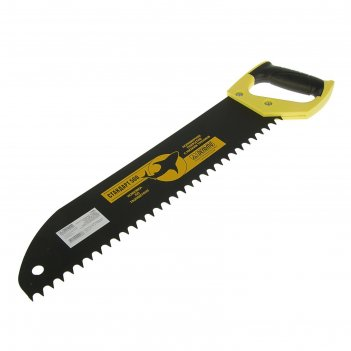 Ножовка по газобетону дельта, стандарт, 500 мм, газобетон, шаг 15 мм