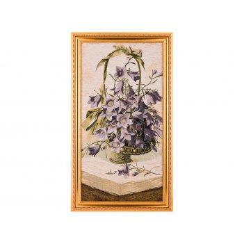 Гобеленовая картина корзина с колокольчиками 71х...