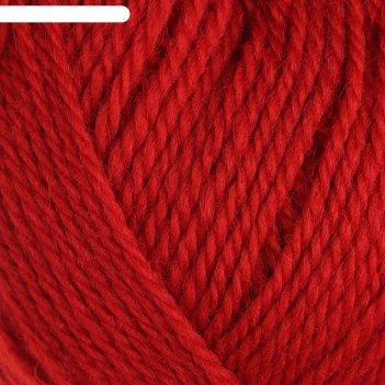 Пряжа аргентинская шерсть 100% импортная шерсть 200м/100гр (046 красный)