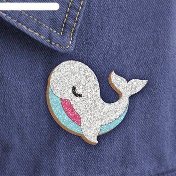 Фреска-значок белый кит