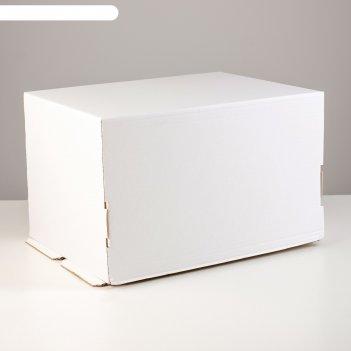 Кондитерская упаковка без печати, 40 х 30 х 25 см