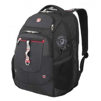 Рюкзак wenger, чёрный/красный, полиэстер 900d/м2 добби/искуственная кожа,