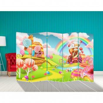 Ширма сладкая страна 250 x 160см