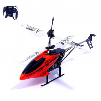 Вертолет радиоуправляемый пилотаж, работает от батареек, цвета микс