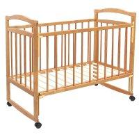 Детская кроватка колибри - эко 4 с опускаемой передней стенкой, цвет орех