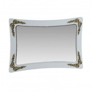 Зеркало аделина белый глянец/золото