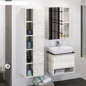 Зеркало-шкаф comforty «прага-60», дуб белый